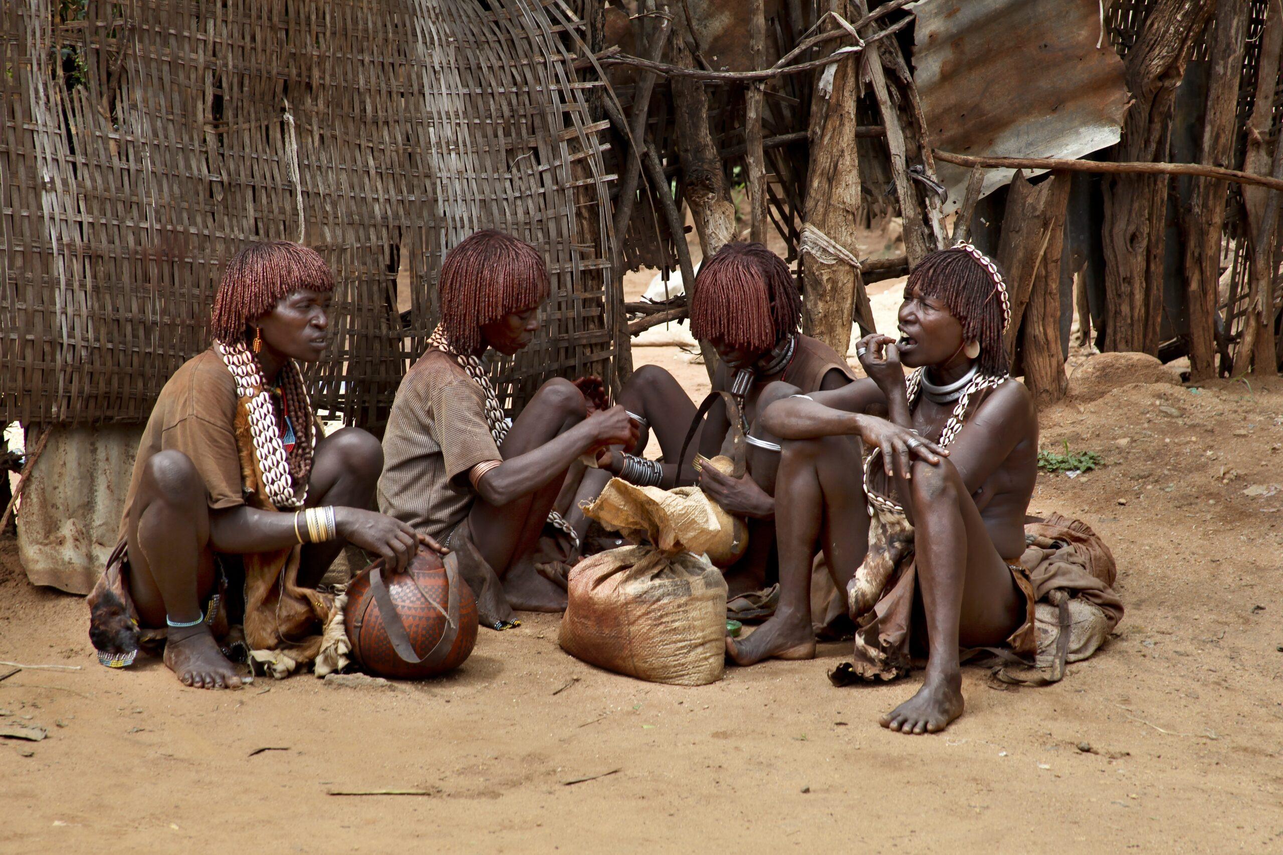Omo-Tal,,Äthiopien,-,22.,November,2011:,Hamers,In,Der